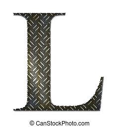 Metal alphabet symbol - L