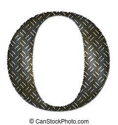 Metal alphabet symbol - O