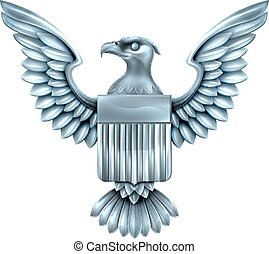 Metal American Eagle Shield