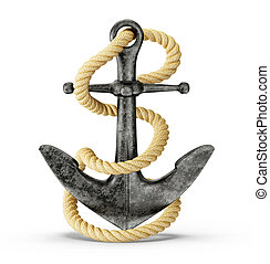 anchor - metal anchor isolated on a white background