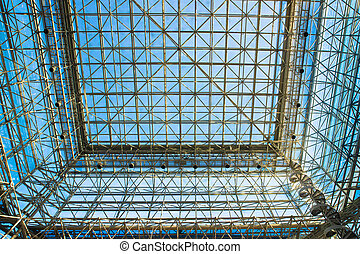 metal and glass girders