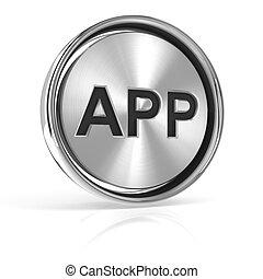 Metal App icon, 3d render