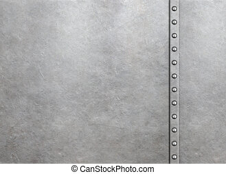 Metal armor background with rivets
