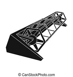 Metal attachment to the tractor for the harvest. Modern agricultural machinery.Agricultural Machinery single icon in black style bitmap symbol stock illustration.