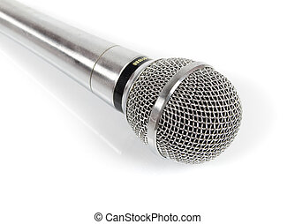 metal audio microphone isolated