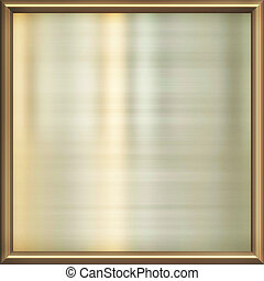 metal award frame - great image of shiny gold plate in frame