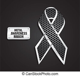 Metal awareness ribbon