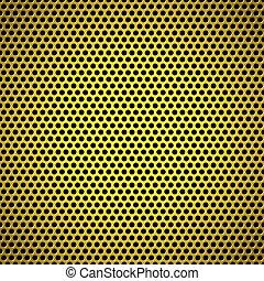 metal background circle gold