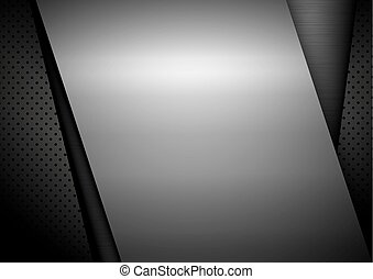 Metal background design with copy space