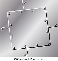 Metal Background - A Metal Background with Rivets