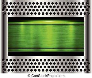 metal background green