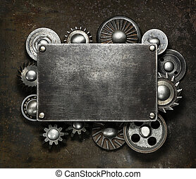 Metal background - Industrial dark metal background