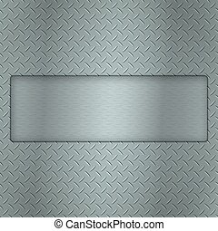 Metal background of tread plate texture with gap and steel...