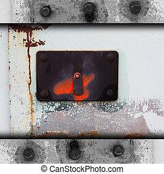 metal background plate steel template frame signboard...
