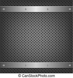 Metal Background With Aluminum Plate