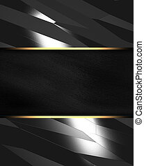 Metal background with black texture stripe layout