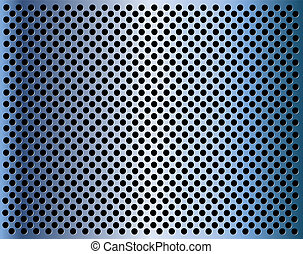 Metal background with holes eps10