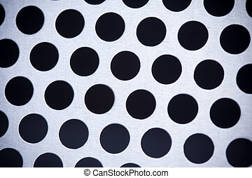 Metal background with holes