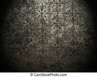 metal background with ornaments
