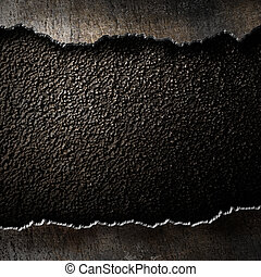 metal background with torn edges
