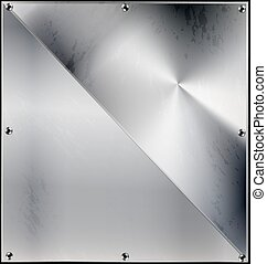 metal background with triangle and holes