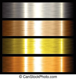 metal backgrounds brushed metallic textures with reflections...