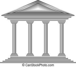 metal, banco, icono