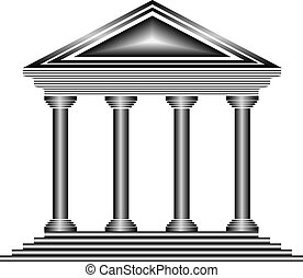 Metal bank icon on white background - vector