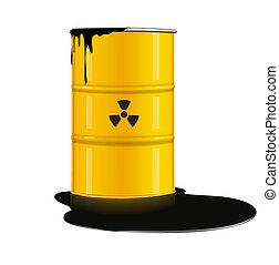 metal barrel - illustration of yellow metal barrel with...