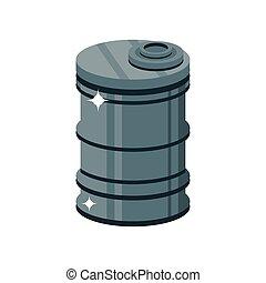 metal barrel on white background