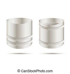 metal barrel open vector illustration