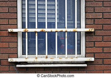 Metal bars on window