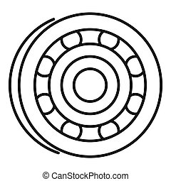 Metal bearing icon, outline style