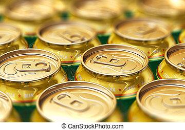 Metal beer drink cans