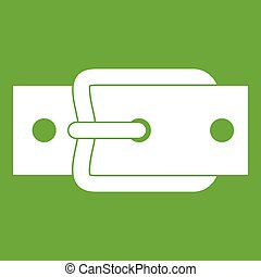 Metal belt buckle icon green