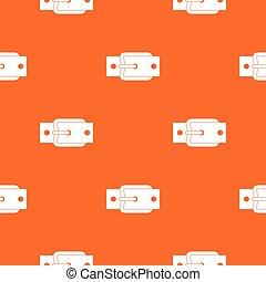 Metal belt buckle pattern seamless