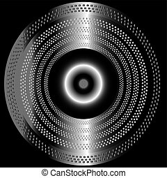 Metal black background with circle
