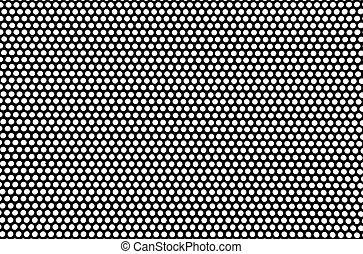 metal black mesh on a white background