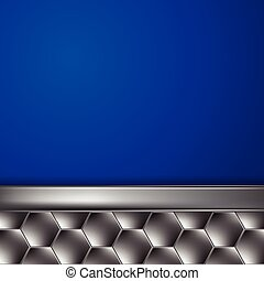 Metal blue background with place for text