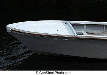 Metal Boat in a Lake