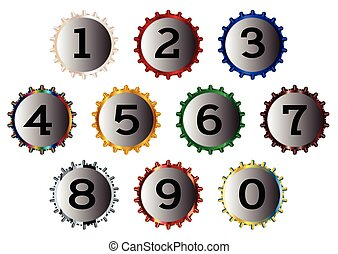 Metal Bottle Cap Numbers