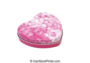 Metal box in shape of heart
