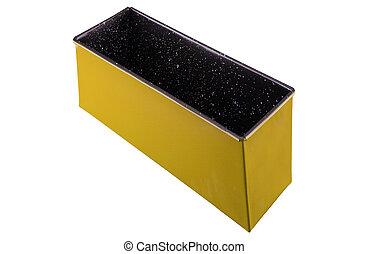 Metal box isolated
