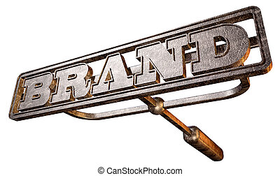Metal Branding Brand Perspective - A metal cattle brand with...