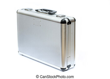 Isolated silver/metal briefcase