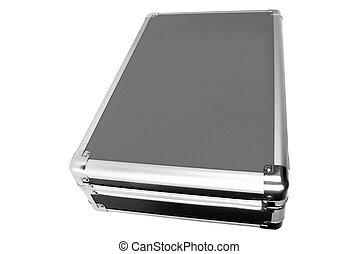 metal briefcase isolated