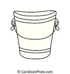 metal bucket isolated icon