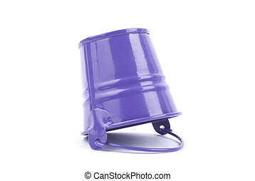 Metal bucket isolated on a white background.