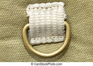 Metal buckle on the fabric