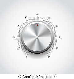 Metal Button - This image represents a metal knob./Metal...